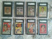 Holy Cow Phil Rizzuto Collection Lot Of 8 Sgc Graded Cards Owned By Him