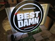 New Mib Beer Sign Lighted Led Sign Best Damn Beer Sign From Anheuser Busch Brew