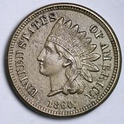 1860 Indian Head Small Cent Choice Unc Free Shipping E104 Tlx