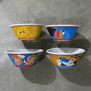 Kelloggs 4 Cereal Bowls Fruit Loops, Frosted Flakes, Raisin Bran, Rice Krispies