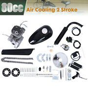 Conver-t Bicycle 2 Stroke 80cc Petrol Gas Motorized Engine Motor Parts Silver Kp
