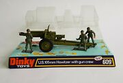 Dinky Toys No. 609 Us 105mm Howitzer With Gun Crew - Superb Mint Condition.
