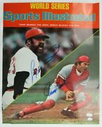 Johnny Bench Luis Tiant Signed 16x20 Sports Illustrated 10/20/75 Issue Cover Pho