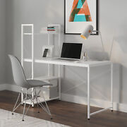 Ames Reversible Gaming Home Office Computer Desk With Adjustable Shelves