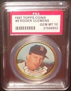 Psa 10 Gem Mint 10 - Roger Clemens 1987 Topps Coins Card Boston Red Sox