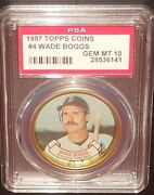 Psa 10 Gem Mint 10 - Wade Boggs 1987 Topps Coins Card Boston Red Sox