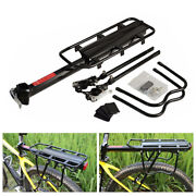 Rear Bike Rack Cargo Rack Quick Release Alloy Carrier 110 Lb Capacity