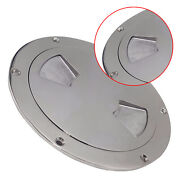 Cover Marine 6in Stainless Steel Deck Plate Round Boat Deck Hatch Access Cover