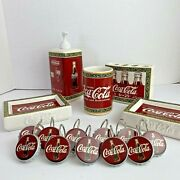 Coca Cola Bathroom Set Hangers Lotion Andtoothbrush Dispenser 2 Soap Dishes Glass