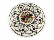30and039and039 White Marble Table Top Antique Pietra Dura Coffee Side Inlay Home Decor So