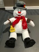 Build-a-bear Frosty The Snowman 18 Plush With Hat, Scarf, Boots, And Accessories
