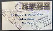1925 Uss Los Angeles Zeppelin Airship Cover Puerto Rico To New York City Usa
