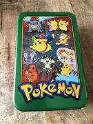 Topps 2000 Pokemon Tv Animation Edition Tin With Pikachu Cover - Empty Tin Only
