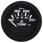 Faria 2 Heavy-duty Water Temperature Gauge 100-250f - Black Bulk Case Of ...