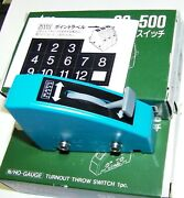 3- Kato Unitrack 20-500 N / Ho Scale Gauge Turnout Throw Switch Ex. Cond In Boxs