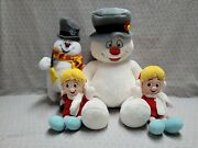 Build A Bear Frosty The Snowman Karen Toy Factory Ice Skating Plush Toy Lot 4