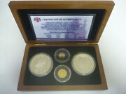 1993 Russia Ballerina Gold And Silver Proof Set - Ultra Rare Only 100 Worldwide