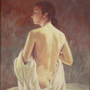 Female Nude Painting Woman Oil On Masonite Signed Framework With Frame 900