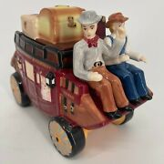 2016 Wells Fargo And Company Stagecoach U.s. Mail Collectible Ceramic Cookie Jar