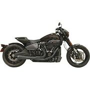 Bassani Black 15.5 Short Road Rage 21 Exhaust For 18-20 Breakout And Fat Boy