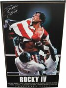 Sylvester Stallone Autographed 25x40 Canvas Print Rocky Iv Coa Cardboard Legends