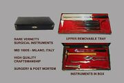 Antique Vernetti Amputation And Post Mortem Kit Mid 1800and039s -superb - Must See