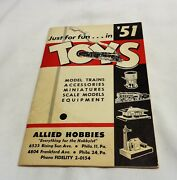 1951 Allied Hobbies Gilbert Toys Lionel Trains American Flyer Retail Catalog