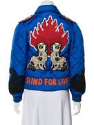 Spanielsblind For Loveembellished Embroidered Puffer Jacket New It 40