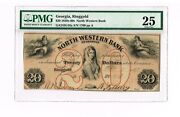 Ringgold Georgia 20 1861 North Western Bank Pmg 25 Very Fine