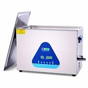 Ultrasonic Cleaner With Heater And Basket For Denture,coins,small Metal