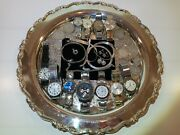 Vintage Mens Watch And Tie Clip, Ladies Sterling Jewelry And Silver U.s. Coin Lot