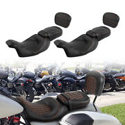 Driver Passenger Seat And Sissy Bar Pad Fit For Harley Touring Electra Glide 09-21