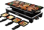 Cusimax Raclette Grill Electric Grill Table- Portable 2 In 1 Korean Bbq Grill