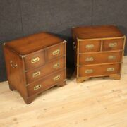 Pair Of Ship Nightstands Furniture Bedside Tables In Wood Antique Style 900