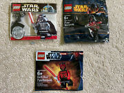 Lego Star Wars Darth Vader Revan And Maul Powerful Sith Lords - Rare Polybags New