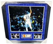 Kirk Gibson Signed Autographed Framed Photo Ticket 1988 World Series Dodgers Mlb