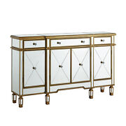 Benzara Wooden Hand Painted Console Table With 2 Doors And 2 Drawers Antique Wh