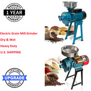 Electric Grain Corn Wheat Feed Mill Dry Wet Cereals Grinder W/ Funnel 110v 3000w