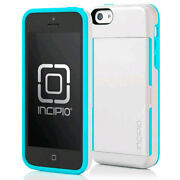 Incipio Stowaway Case With Stand For Iphone 5c - White And Aqua