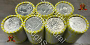 7 Rolls Of Half Dollar Coins,unsearched, Fed Sealed,possible Silver, 70 Fv Coin
