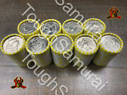 9 Rolls Of Half Dollar Coins Unsearchedfed Sealedpossible Silver 90 Fv Coin
