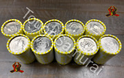 10 Rolls Of Half Dollar Coins, Unsearched, Fed Sealed, Possible Silver, 100 Fv