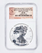 2012-s Silver American Eagle Reverse Proof And Proof Pf70 Ultra Cameo - 2 Coin Set
