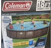 Summer Waves Elite 18ft X 48in Above Ground Frame Swimming Pool Set With Pump -