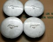 1991-1993 Mustang Pony Wheel 6.75 Silver Center Caps W/running Horse - Set Of 4