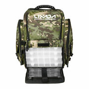 Lixada Fishing Tackle Backpack With 4 Trays Large Tackle Storage Bag With Box