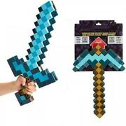 2 In 1 Minecraft Games Diamond Sword And Pickaxe Hoe Toys Kidand039s Made Of Soft Eva