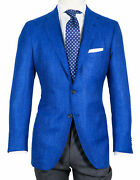 Kiton Jacket In Blue Mottled From U. A.cashmere/canvas / Regeur4690