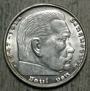 Germany 2 Reichmark 1938b, Almost Uncirculated, Free Sandh 1124-99