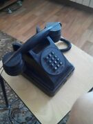 Vintage Small Digital Black Old Telephone Antique Working Production Of Vef Used
